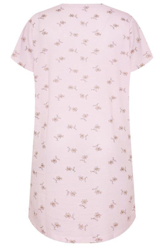 Pink Daisy Print Glitter Nightdress