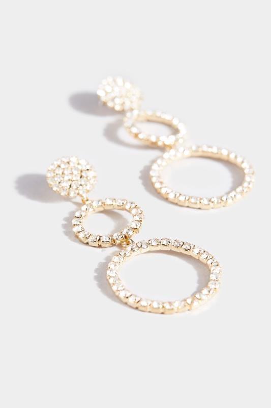 Kreolen mit Diamante-Verzierung - Goldfarben