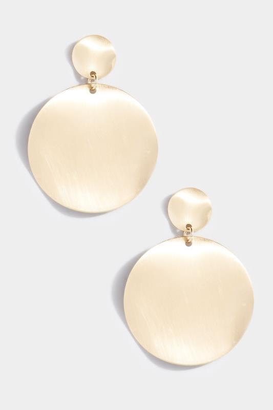 Gold Double Disc Earrings