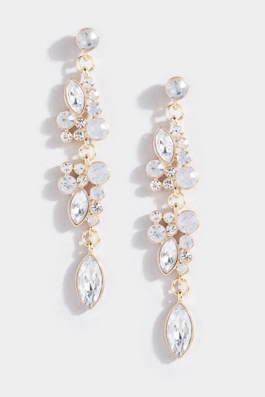 Gold Floral Diamante Drop Earrings_686e.jpg