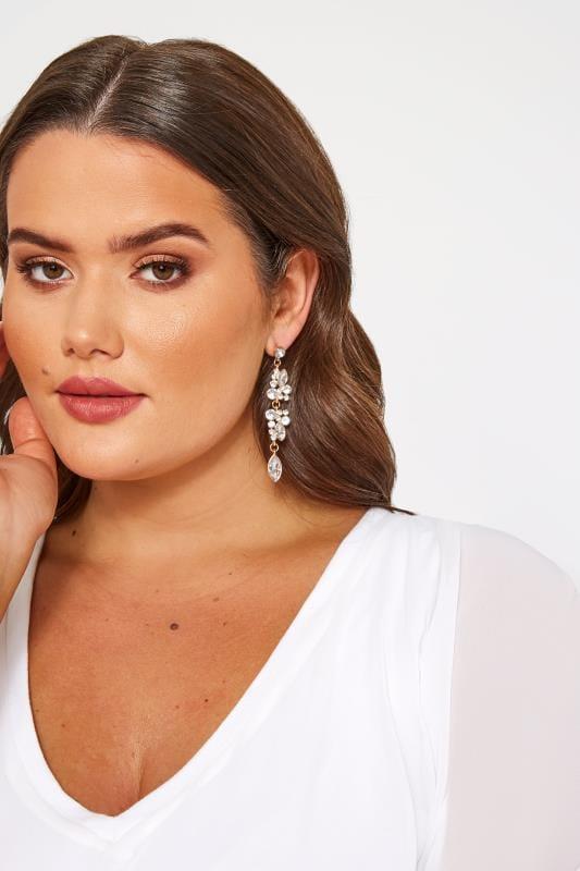 Gold Floral Diamante Drop Earrings_f921.jpg