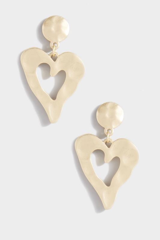 Herzförmige Ohrhänger - Goldfarben
