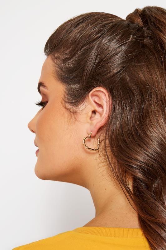 Gold Heart Hoop Earrings