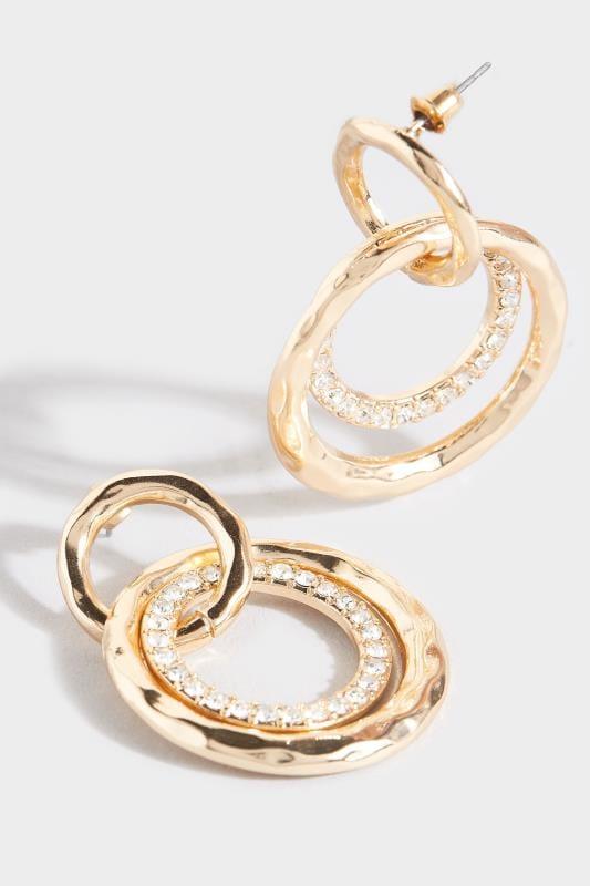 Ohrringe mit runden Anhängern - Goldfarben