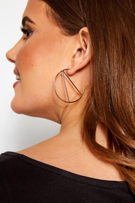 3 PACK Gold Large Hoop Earrings Set