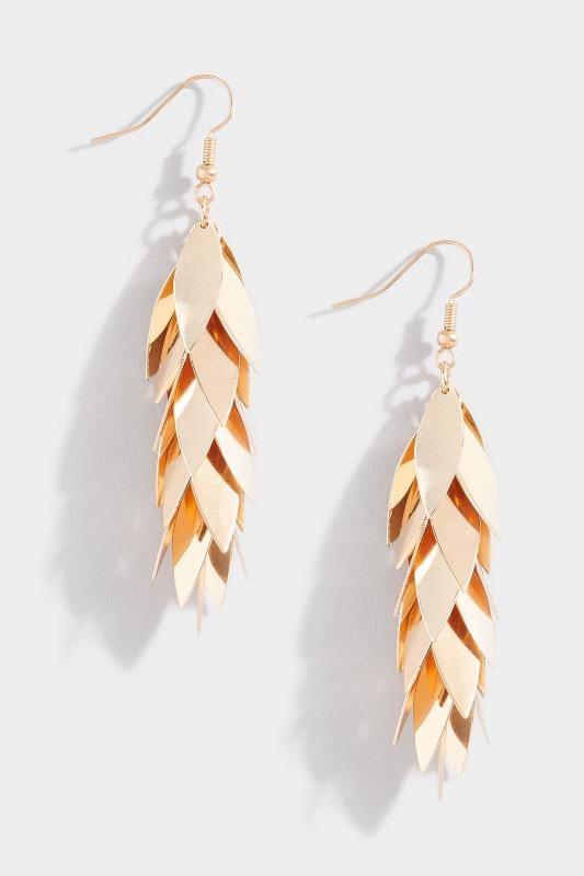 Gold Layered Leaf Earrings