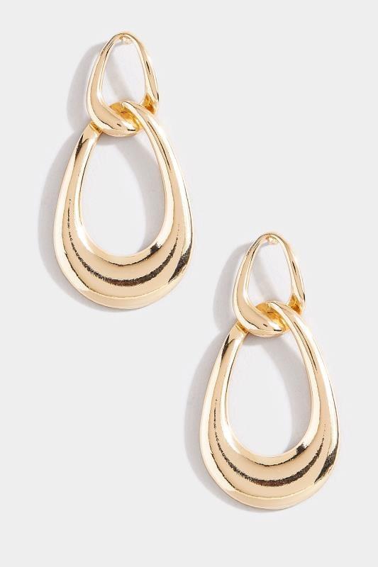 Tropfenförmige Ohrhänger - Goldfarben