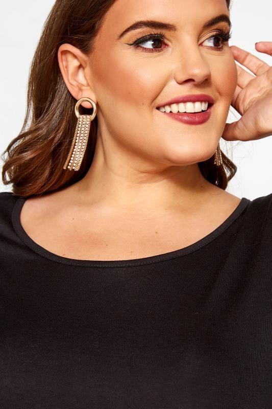 Gold Loop Diamante Tassel Earrings_ab81.jpg