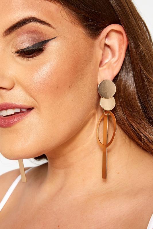 Gold Loop Tassel Earrings
