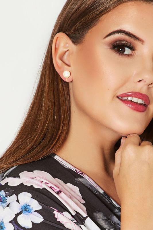Plus Size Earrings Gold Pearl Clip On Earrings