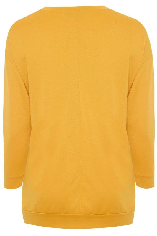 Yellow 'Voilá' Slogan Sweatshirt