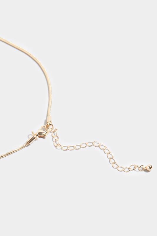Gold Tortoiseshell Disc Necklace