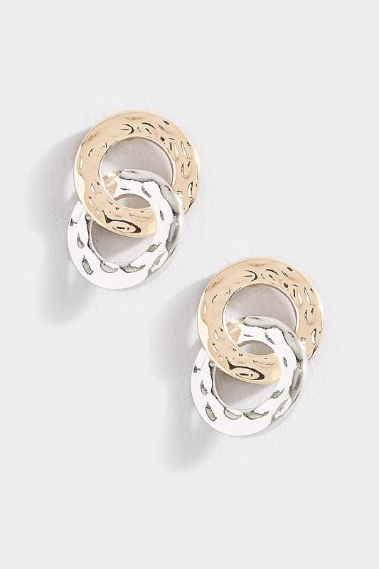 Gold & Silver Chain Link Earrings