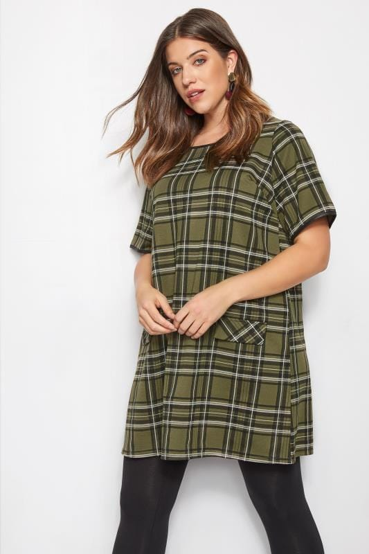 Green Check Tunic Dress