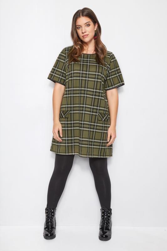 Green Check Tunic Dress