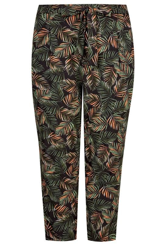 Green Leaf Tapered Trousers