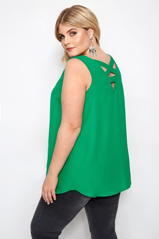 Green Cross Back Cami