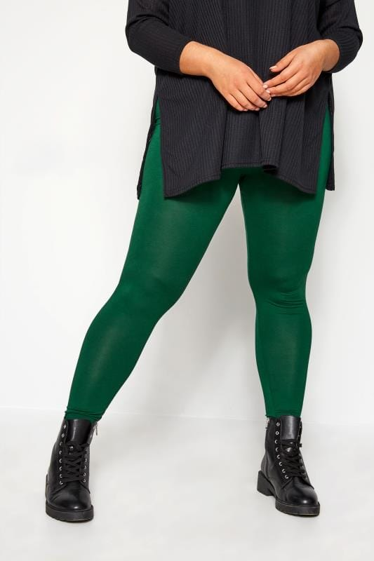 Plus Size Fashion Leggings Green Fashion Leggings