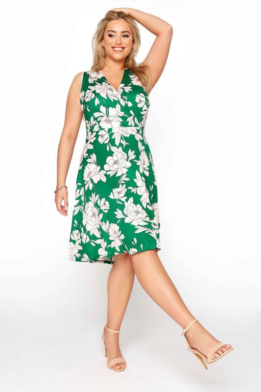 Green Floral Wrap Skater Midi Dress_7e5d.jpg