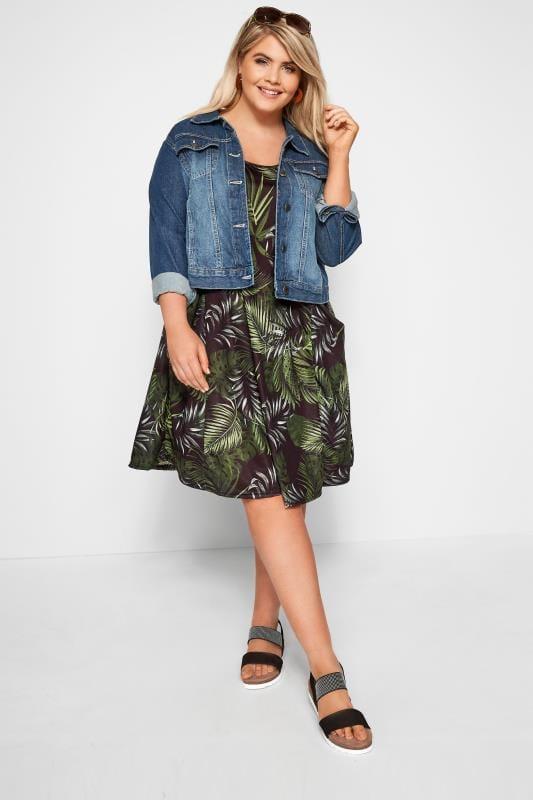Jersey-Kleid mit Taschen - Grün
