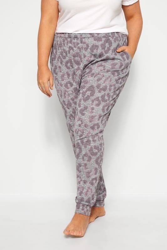 Grey Animal Print Lounge Pants