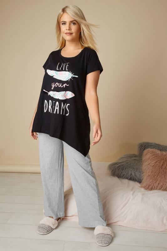 Grijze pyjamabroek