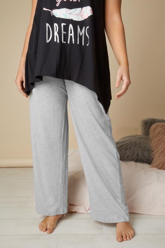Grey Basic Cotton Pyjama Bottoms