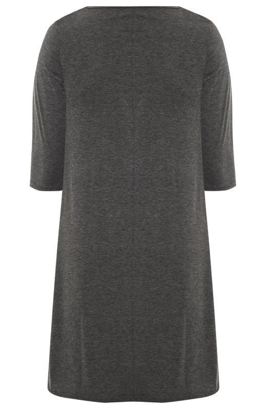 Grey Camo Foil Star Swing Dress