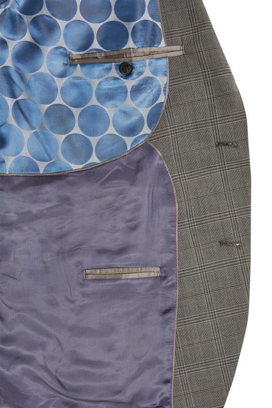 BadRhino Grey Checked Suit Jacket