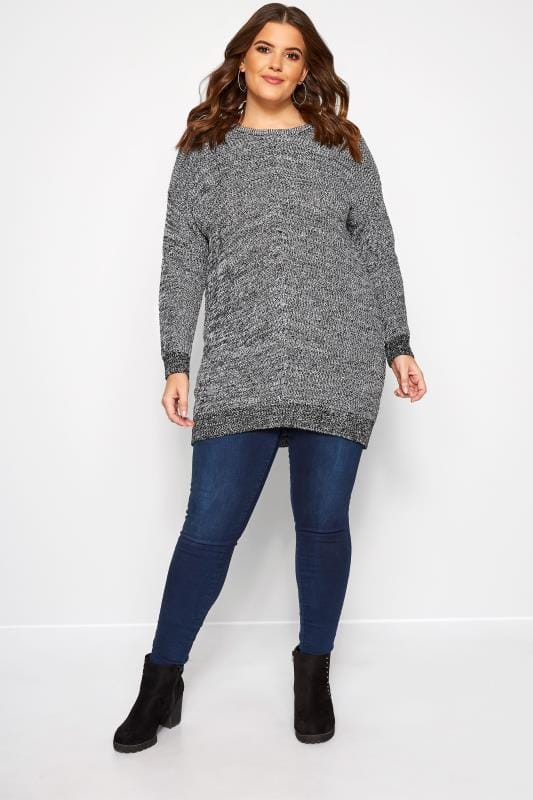 Grey Chunky Knitted Jumper