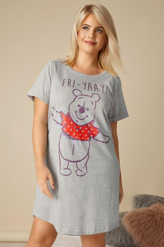 Grey Disney Winnie The Pooh 'Fri-Yay' Nightdress