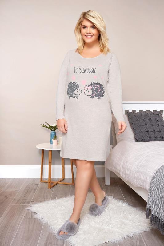 Grey Hedgehog Nightdress