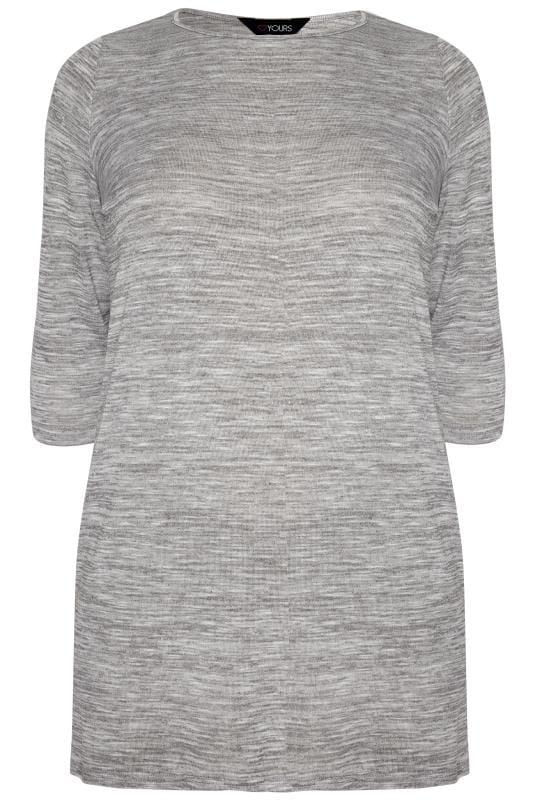 Size Up Langes T-Shirt - Grau