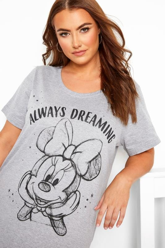 Grey Marl Disney Minnie Mouse Nightdress