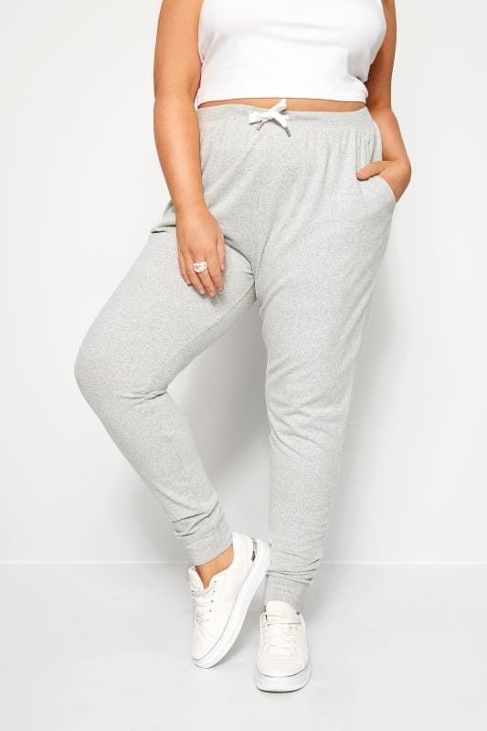 Plus Size Loungewear Grey Marl Lounge Pants