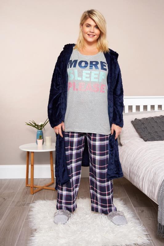 """Haut de Pyjama Gris """"More Sleep Please"""""""