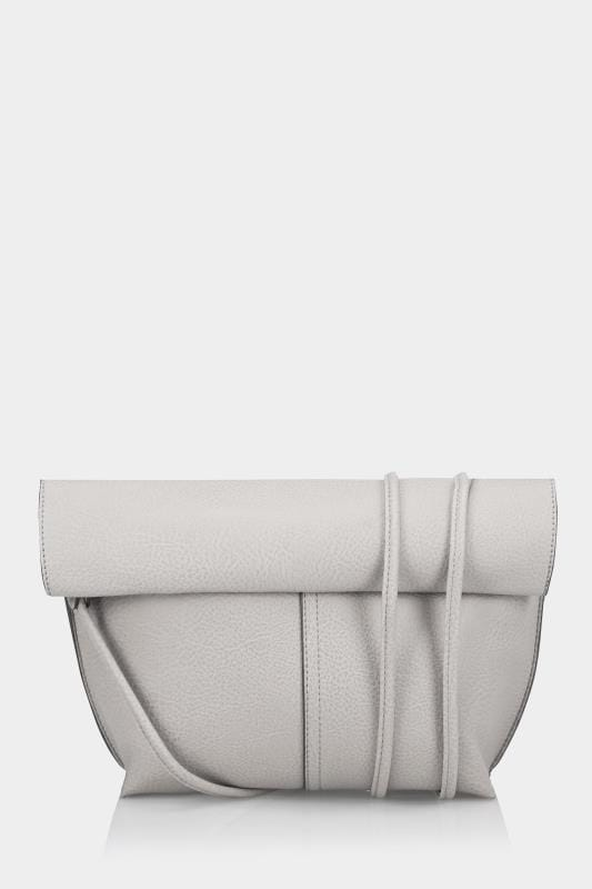 Grey & Nude Reversible Roll Top Bag With Detachable Straps