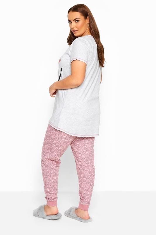Grey & Pink 'Hello Beautiful' Pyjama Set