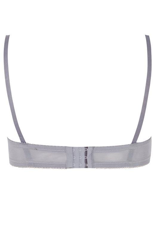 Grey Satin & Lace Wired Bra