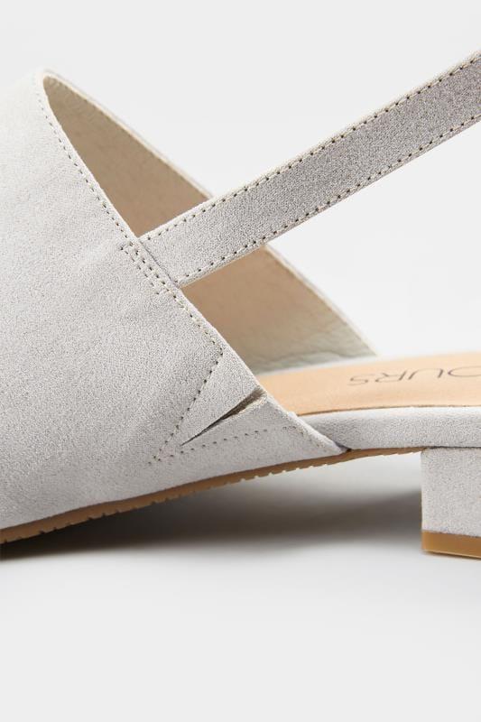 Slingback Sandalen Grau, Weite H, Größen 38 43 | Yours