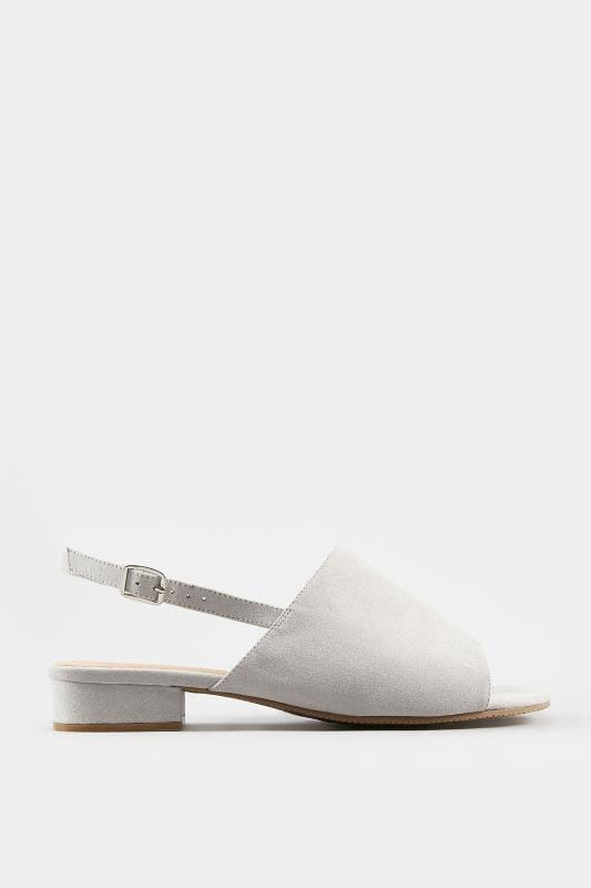 Grey Slingback Sandals In Extra Wide Fit