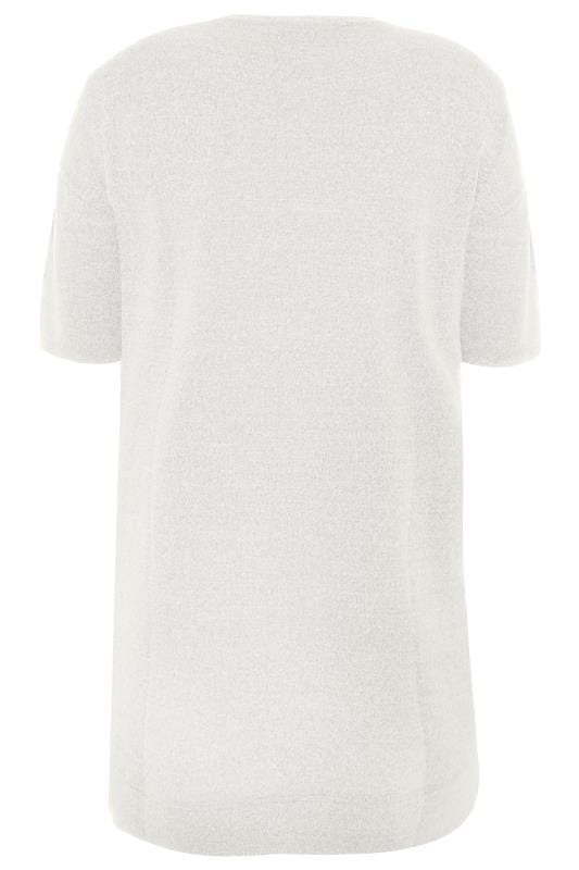 Light Grey Marl Foil 'Lazy Days' Slogan Lounge Top