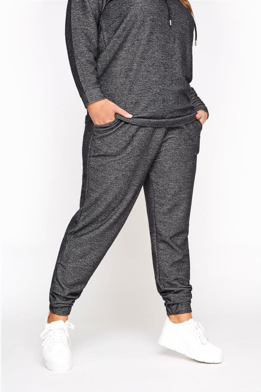 Grey Sparkly Lurex Slim Leg Joggers