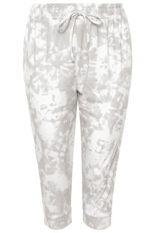 Grey Tie Dye Cropped Joggers