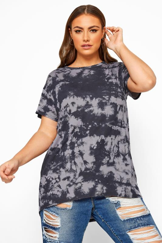 LIMITED COLLECTION Grey Tie Dye T-Shirt