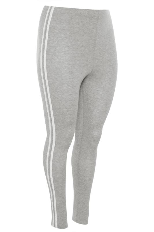 LIMITED COLLECTION Grey & White Tape Leggings