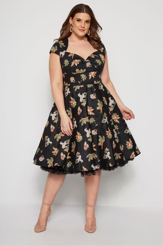 HELL BUNNY Messina Kleid - Schwarz
