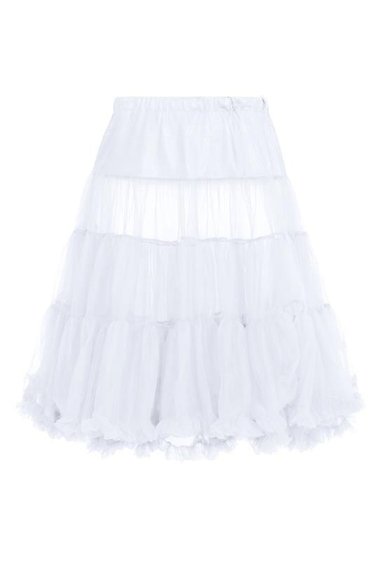 HELL BUNNY Petticoat - Weiß