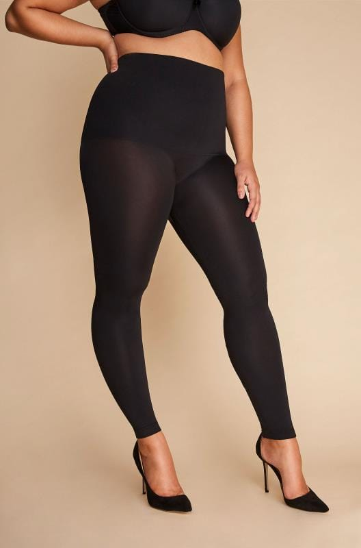 Plus Size Shapewear Black High Waist Shaping Leggings