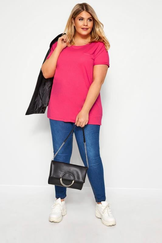 Hot Pink Pocket T-Shirt